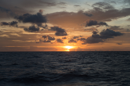 vacancy: ocean landscape with sunset for backgrounds