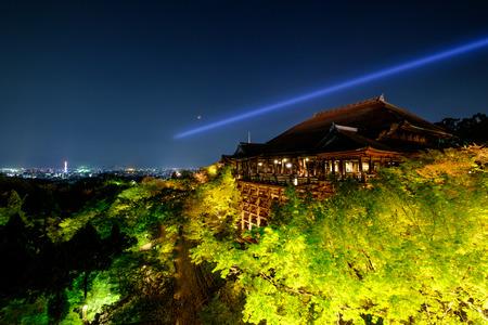 2016 Arpil 10, kiyomizu temple light up at kyoto, Japan Editorial