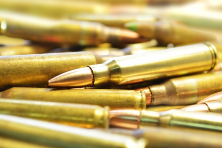 M16: M16 Bullets Stock Photo