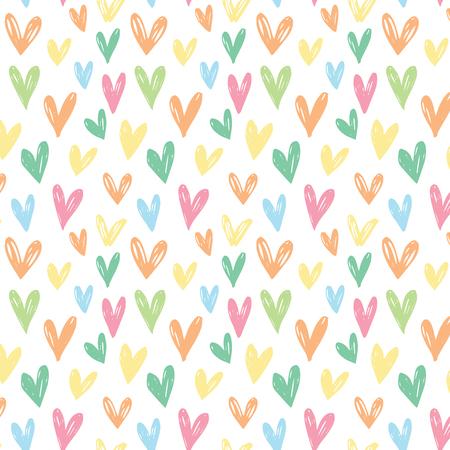 corazones azules: sin patrón con corazones de colores. corazones rosados, corazones azules, corazones amarillos, anaranjados, corazones corazones verdes.