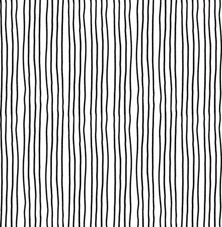 striped seamless pattern. Monochrome vertical ink rough lines texture. Vetores