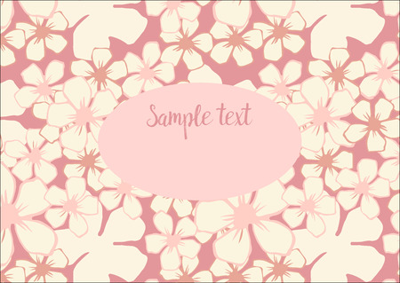 photo album cover: template with floral pattern with pink cherry blossom flowers . It can be used as photo album cover and other.