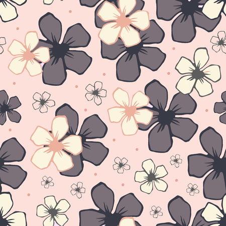 blossom background: White cherry blossom flowers seamless pattern. Endless background.