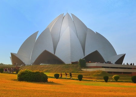 majestic lotus temple in Delhi, India