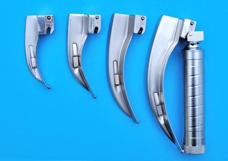 laryngoscope with set spoons photo