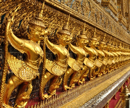 grand palace: Interior of the Grand Palace in Bangkok. Thailand. Stock Photo
