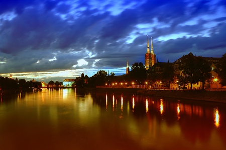Ostrow Tumski in Wroclaw. Poland. photo