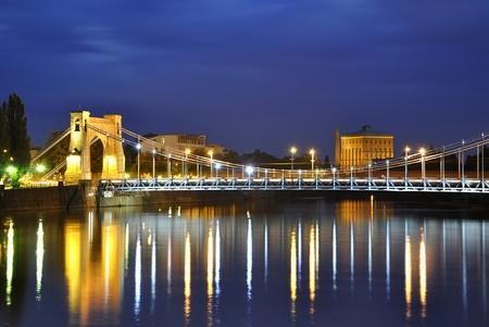 wroclaw: Grunwald bridge in Wroclaw. Poland