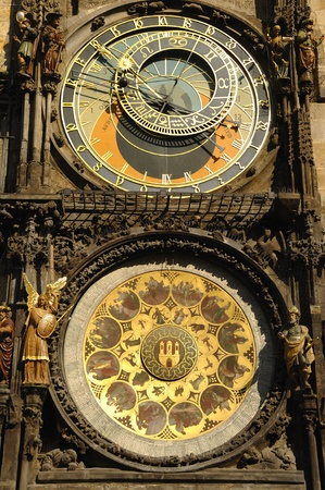praha: Old historic clock in Prague Editorial