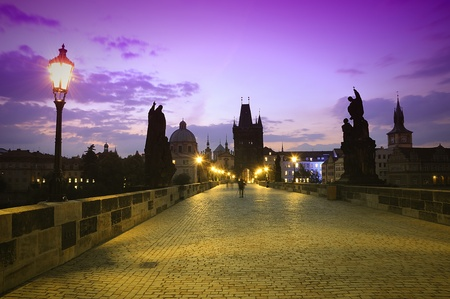 praha: Charles Bridge in Prague.
