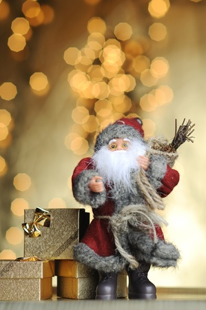 hurry up: Golden Christmas Stock Photo