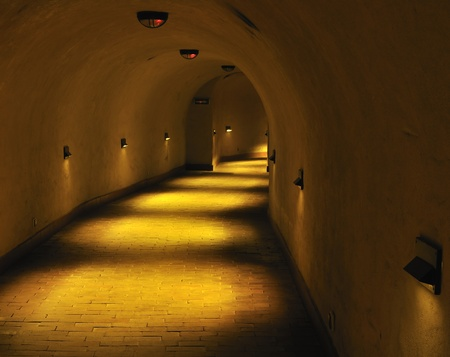 Old, antique tunnel. Lublin in Poland.