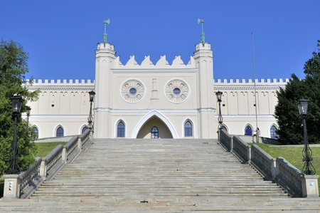 fortify: Castle of Lublin in Poland. Historical monuments. Editorial
