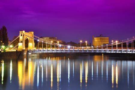Grunwald bridge in Wroclaw. Poland Stock Photo