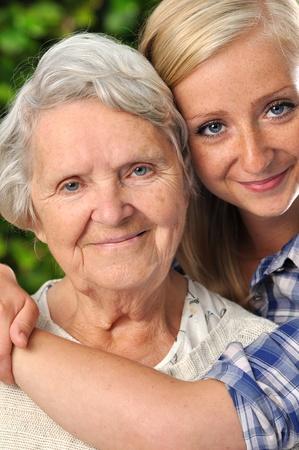 grand daughter: Grandmother and grand daughter