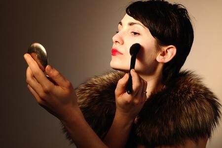 Woman in retro style Stock Photo - 12916903