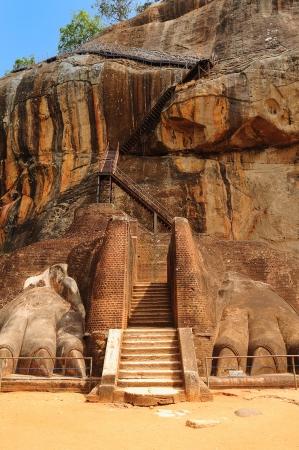 sigiriya: Famous ancient Sigiriya rock  Sri Lanka  Stock Photo
