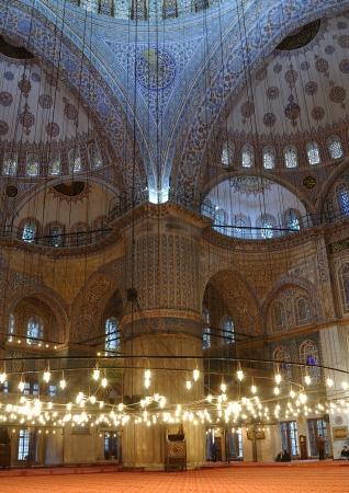 Interior of the Sultanahmet Mosque  Blue Mosque  in Istanbul