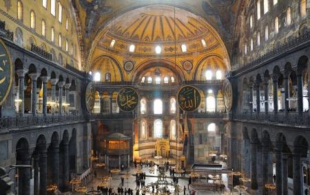 constantinople: Interior of the Hagia Sophia in Istanbul  Editorial
