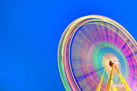 Circular carousel background  Long exposure