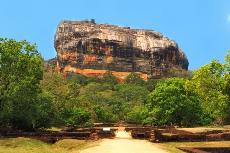 Famous ancient Sigiriya rock  Sri Lanka photo
