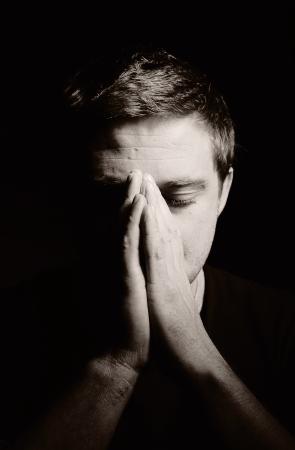 祈って男 写真素材