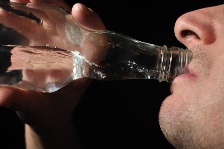 habituation: Man drinks vodka  Alcoholic
