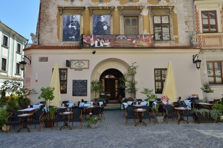 jewish town: LUBLIN, POLAND - JULY 22  Jewish restaurant on July 22, 2013 in Lublin, Poland  Lublin is the biggest city in eastern Poland  It is one of the oldest cities in Poland, with historic Old Town
