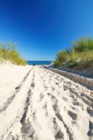 Beautiful quiet beach on the Baltic Sea  Stok Fotoğraf