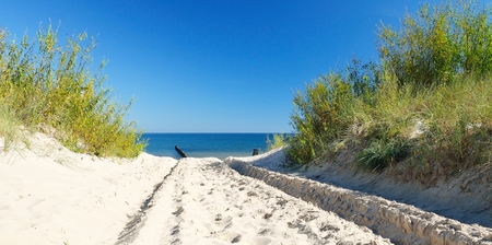 Beautiful quiet beach on the Baltic Sea  Stock Photo