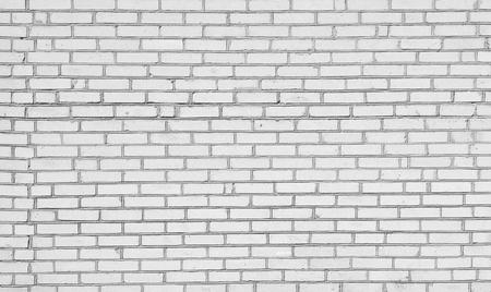 White brick wall as background  photo