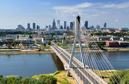 bridge over water: Warsaw - bird