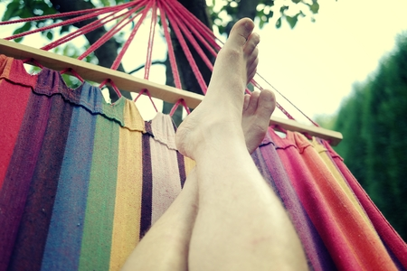 Relax on hammock. photo