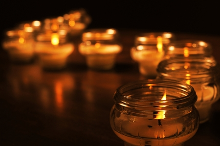 all souls day: Candles for All Souls Day Stock Photo