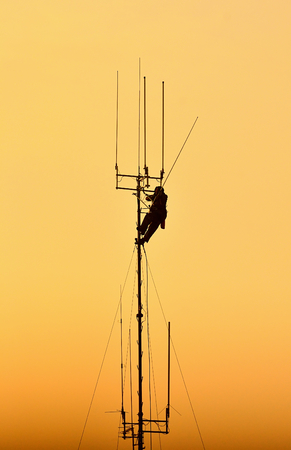 Working at height. photo