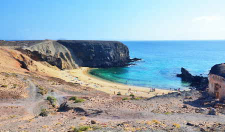 lanzarote: Papagayo beach at Lanzarote.