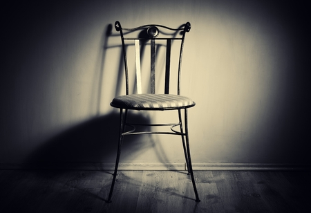 vintage chair: Empty chair. Stock Photo