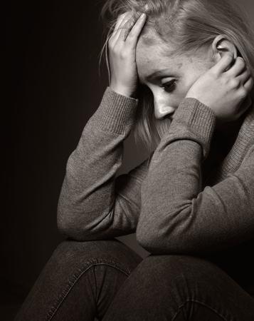 mental problems: Sad woman.