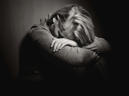 chateado: Mulher triste.