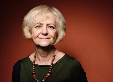 Happy mature woman.