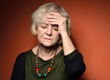 Mature woman with problems.