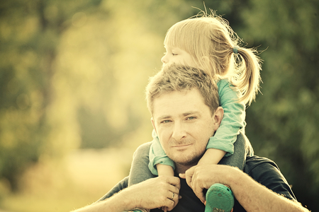 fathers  day: Father and daughter. Vintage Style.