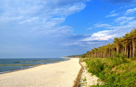 sea view: Baltic sea. Stock Photo