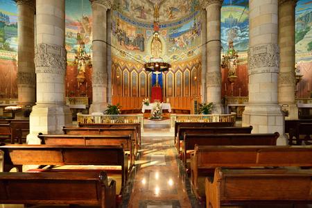 sagrat cor: The interior of the Tibidabo church in Barcelona. Editorial
