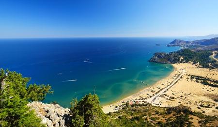 tsampika: Tsambika beach on Rhodos. Greece. Stock Photo