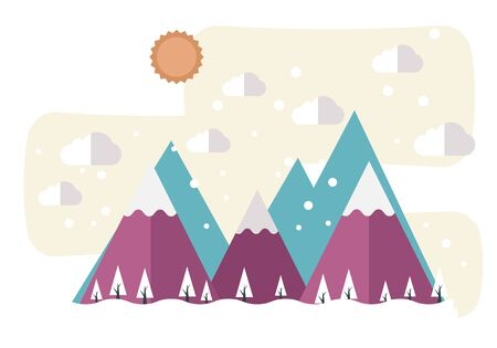 Snow Mountain Background Graphic Material