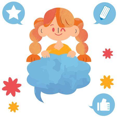 Girl Frame Illustration