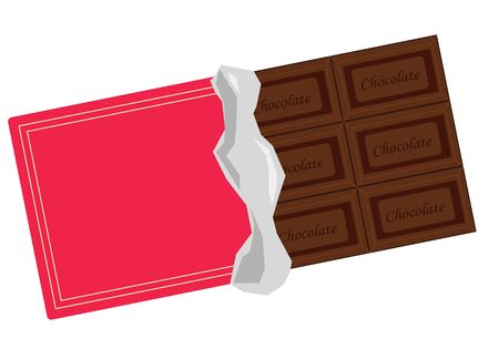 Sweet plate chocolate illustration material
