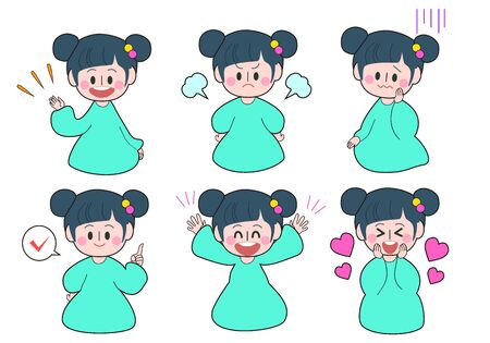 Girls Facial Expressions and Gesture Patterns