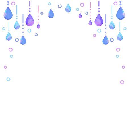 Polka dots and shizuku decoration frames